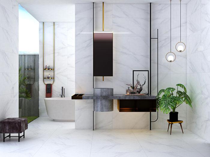 Bí quyết chọn gạch ốp lát phòng tắm siêu đẹp, siêu sang